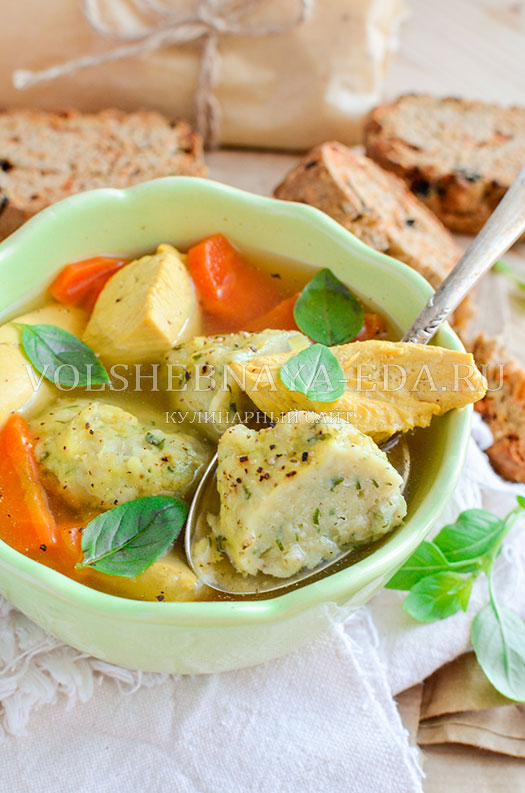 sup s fasolevymi galushkami v multivarke 13