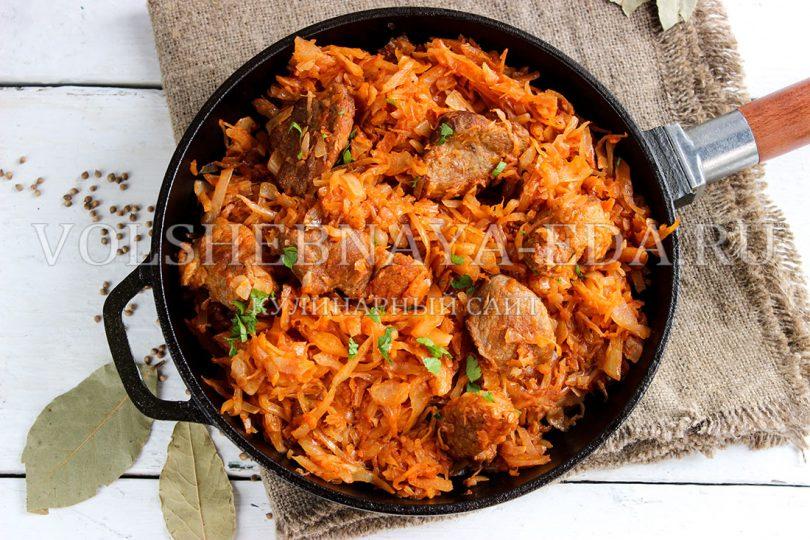 рецепты с капусты с мясом