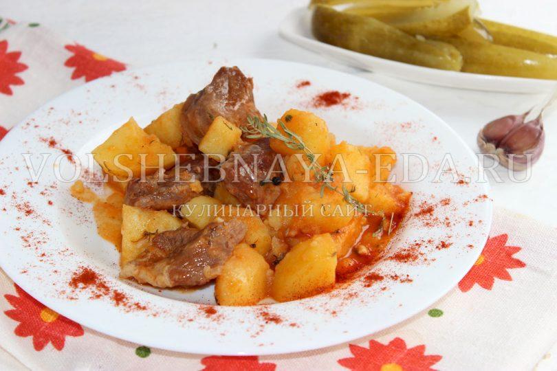 Картофель тушеный с говядиной грибами — pic 4