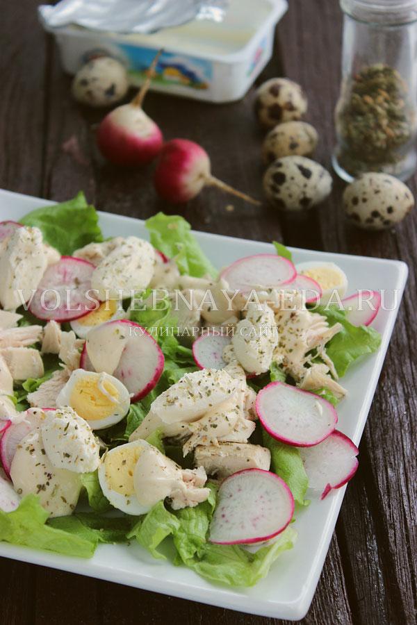salat s kuricej i perepelinymi yajcami 12