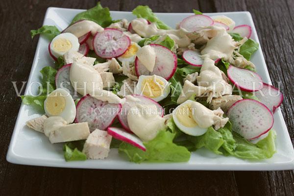 salat s kuricej i perepelinymi yajcami 5