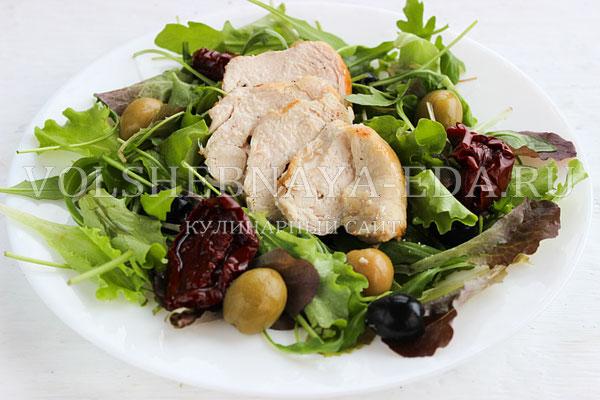 salat s kuricej pod gorchichnoj zapravkoj 5
