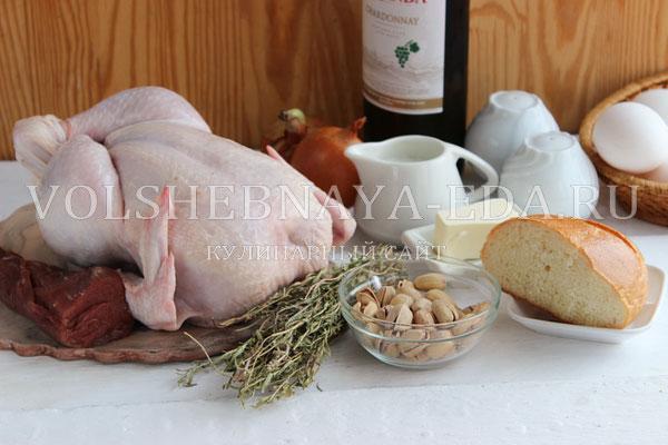 Галантин из курицы - рецепт пошаговый с фото