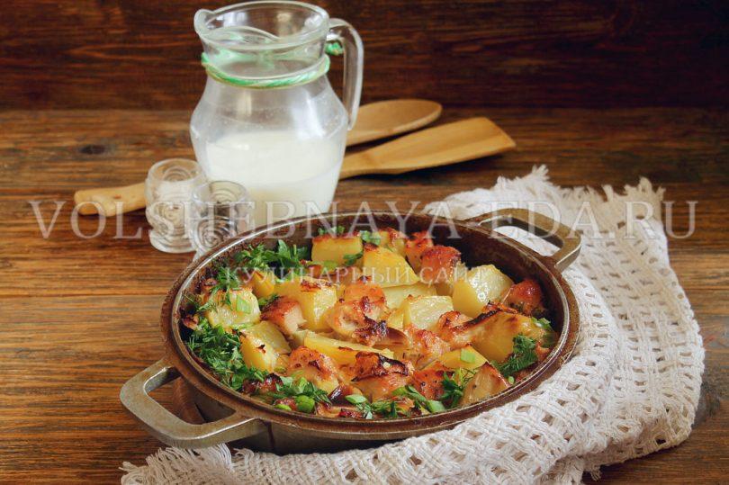 Картошка с мясом в молоке