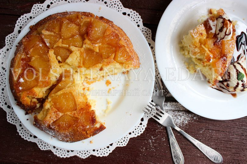 Тарт Татен с ананасами
