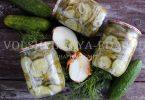 Маринованные огурцы с луком на зиму