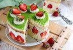 Торт Фрезье с клубникой