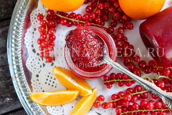 dzhem iz krasnoj smorodiny s apelsinami 8