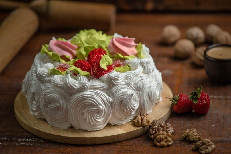 Бисквит с кремом - рецепт пошаговый с фото