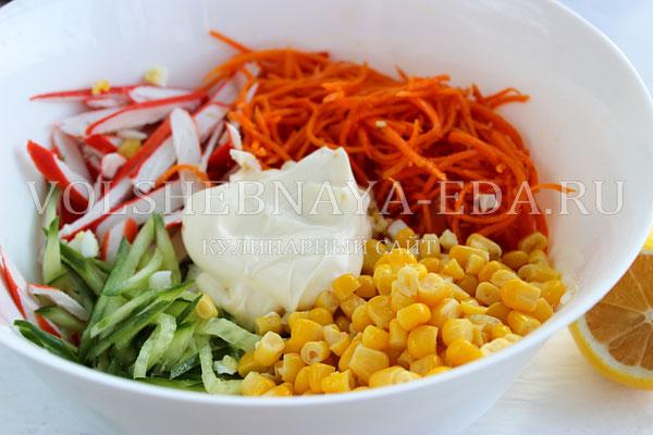 salat s korejskoj morkovyu i krabovymi palochkami 5