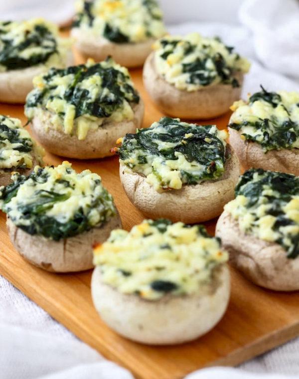 spinach feta stuffed mushrooms picture