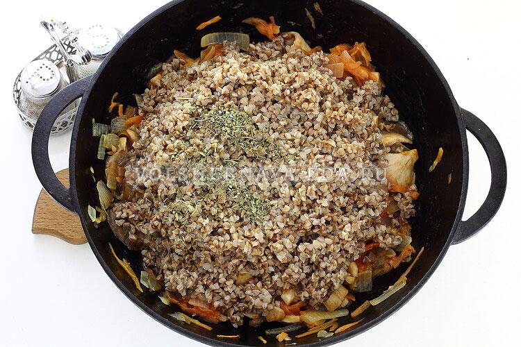 Вкусная гречневая каша с вешенками - рецепт пошаговый с фото