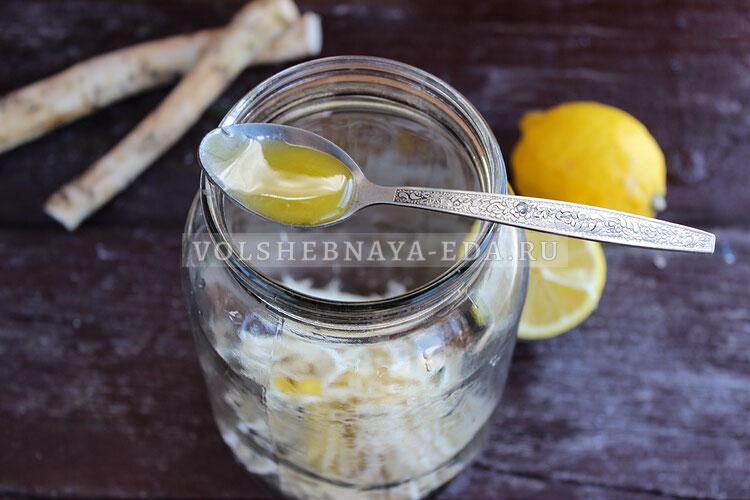 hrenovuha s medom i limonom 2