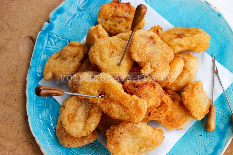 Рыбное филе в пивном кляре