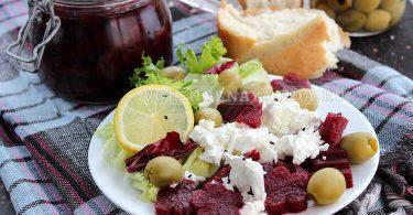 Салат из маринованной свеклы с фетой