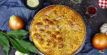Дрожжевой пирог с картошкой
