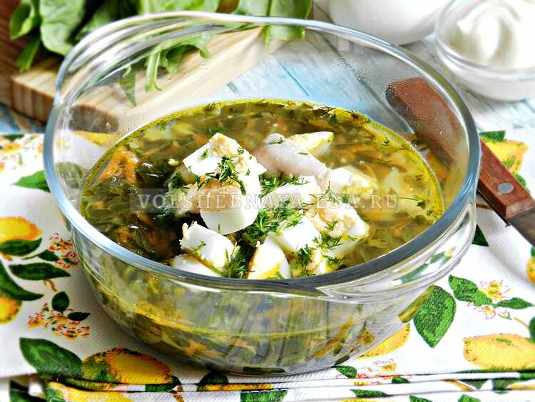 Щавелевый суп на бульоне из индейки