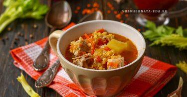 Суп с мясом и чечевицей