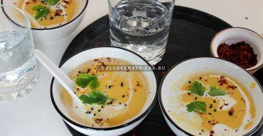 Крем-суп из тыквы с чечевицей
