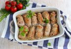 Крученики из свинины с грибами и сыром