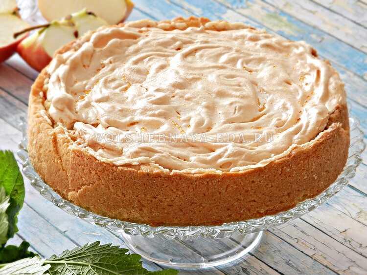 Ябл. пирог с безе