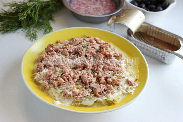 salat podsolnuh s pechenyu treski 4