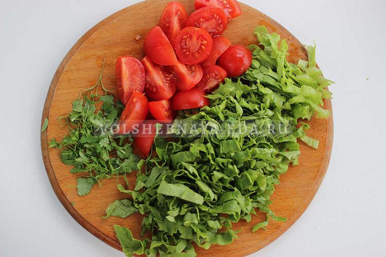 salat s fasolyu i kurinoj grudkoj 3