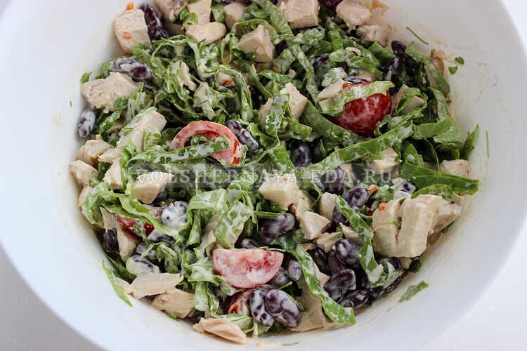 salat s fasolyu i kurinoj grudkoj 5