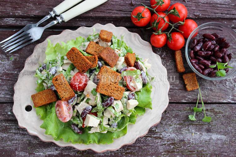 salat s fasolyu i kurinoj grudkoj 7