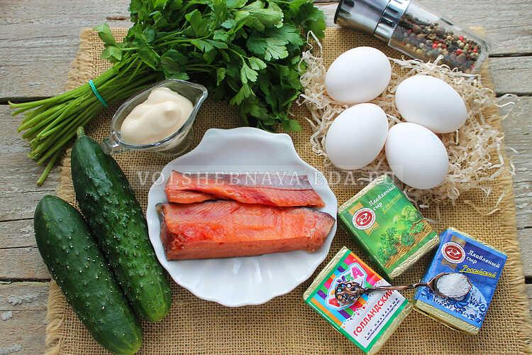 salat s shampinonami i yajtsom 1