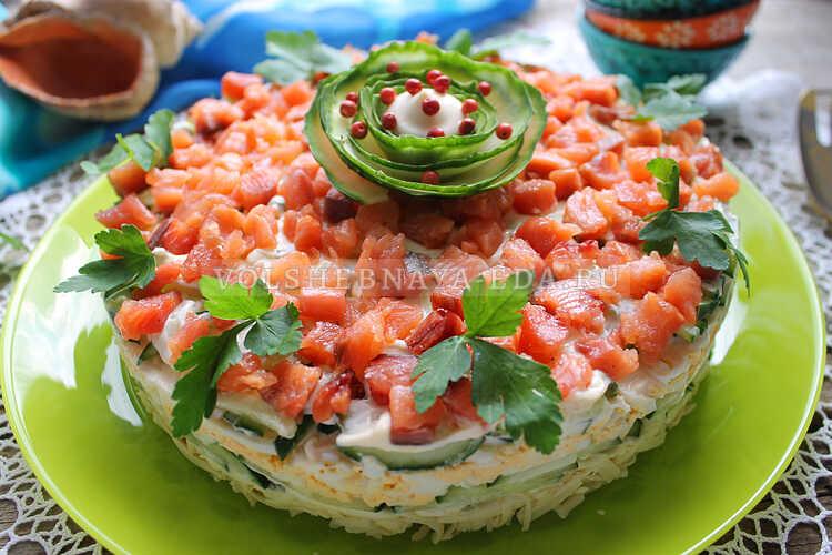 salat s shampinonami i yajtsom 12