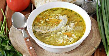 Суп из куриных шеек с вермишелью