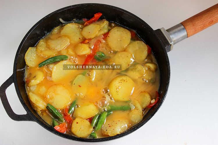 frittata s kartofelem 7