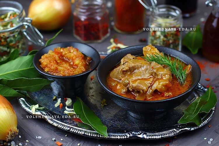 подлива из свинины рецепт с томатной пастой