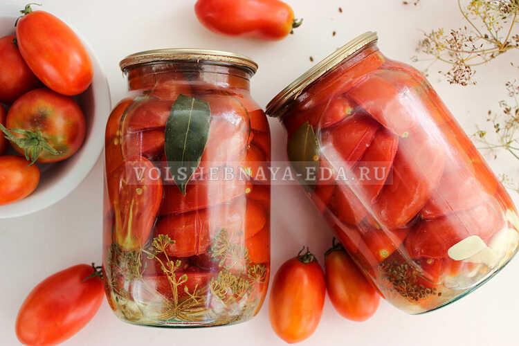 pomidory na zimu bez uksusa 8