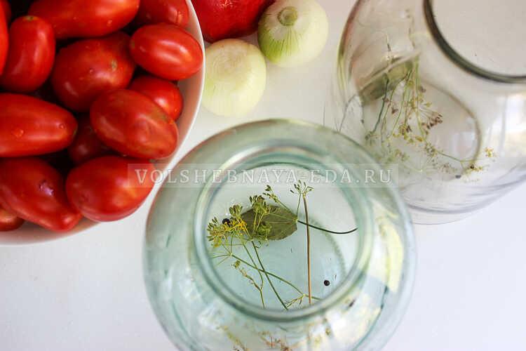 pomidory s lukom (i pertsem) na zimu 1