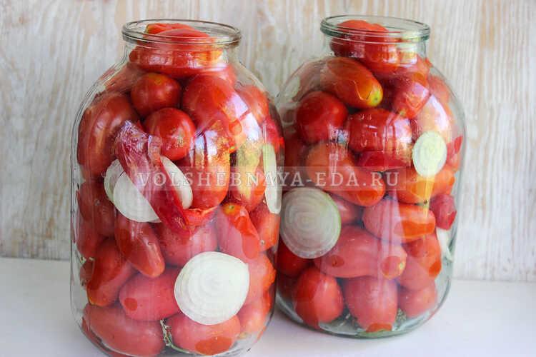 pomidory s lukom (i pertsem) na zimu 2