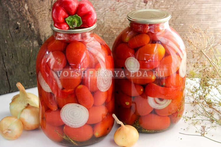 pomidory s lukom (i pertsem) na zimu 7
