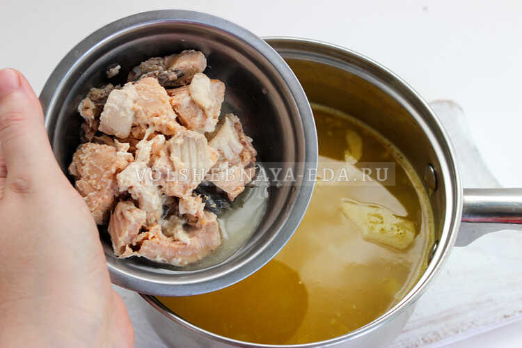 rybnyj sup iz konservov gorbushi 4