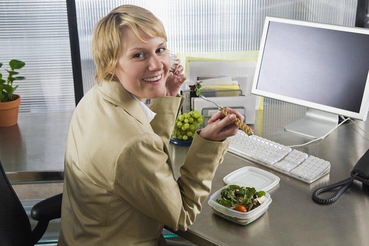 Полезная еда на работе