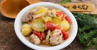 Овощное рагу с мясом — без обжарки