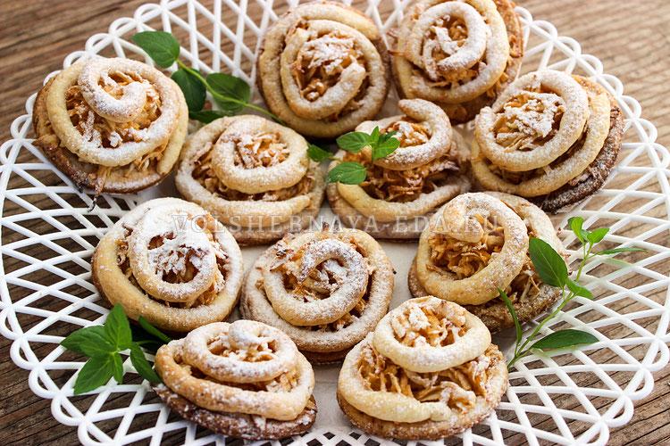 Печенье с яблоками «Завитушки»