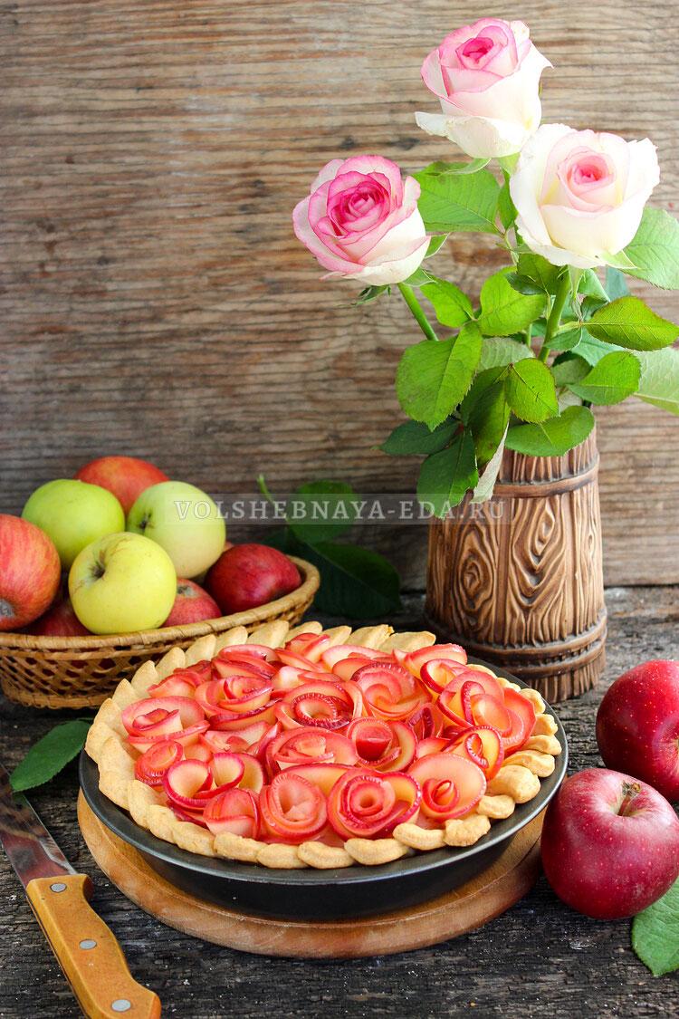 yablochnyj pirog rozy 17