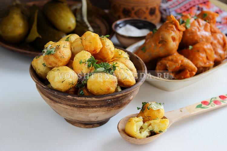 Картошка с чесноком по-улановски