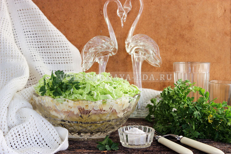 Салат «Лебединый пух»