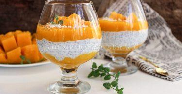 Чиа пудинг — рецепт на кокосовом молоке с манго