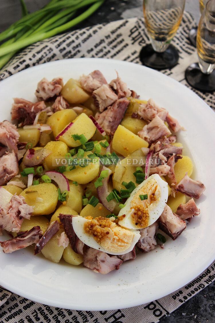 salat s kopchenoj ryboj 7