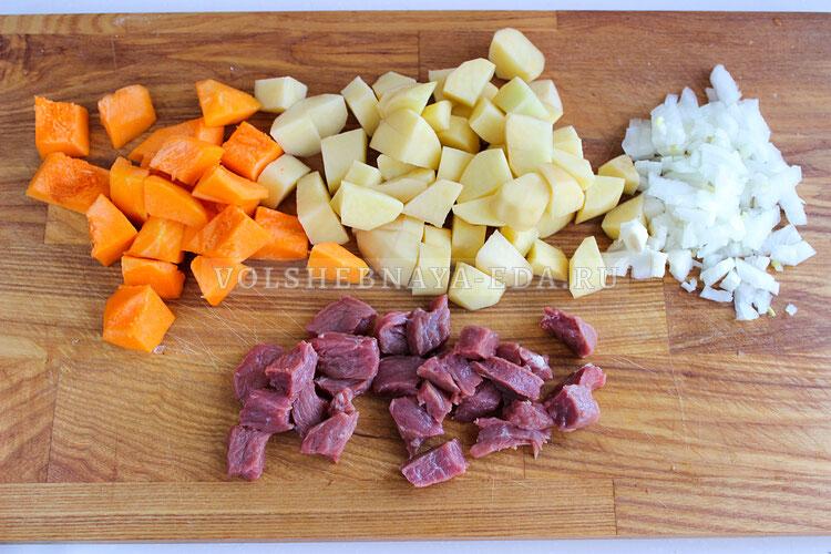 tykva s myasom i kartofelem 1