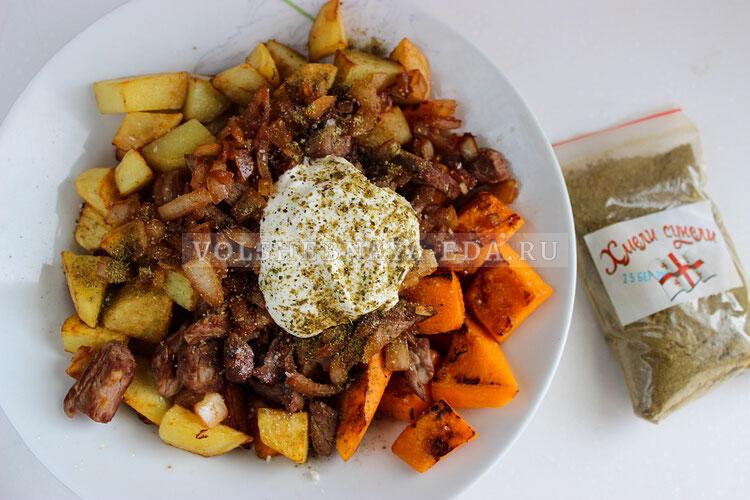 tykva s myasom i kartofelem 5