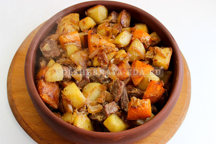 tykva s myasom i kartofelem 7